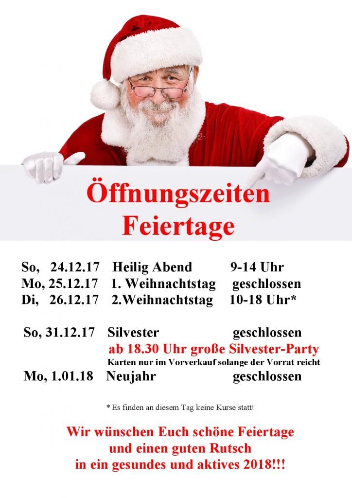 Öffnungszeiten Weihnachten 2015