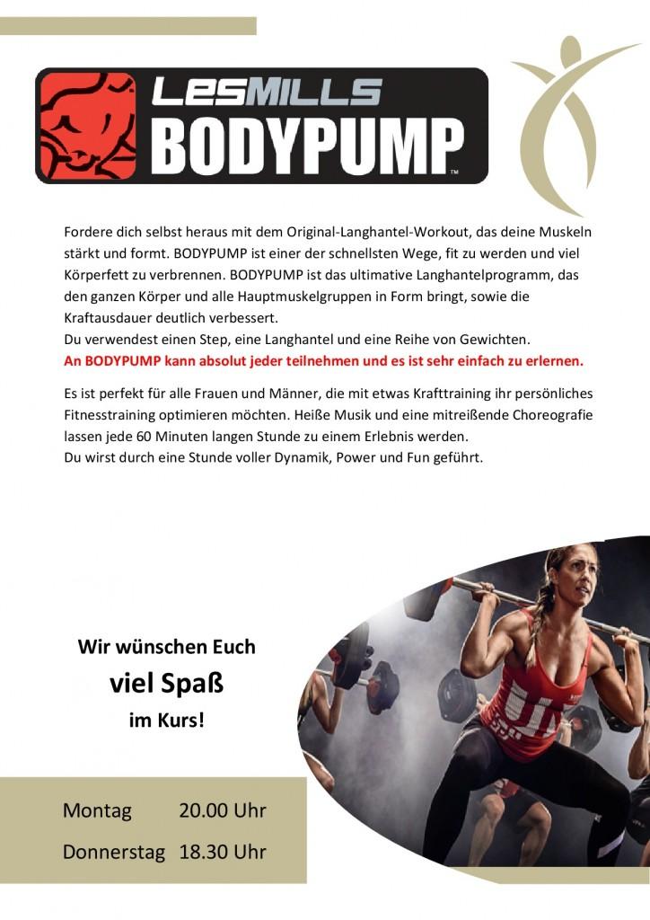 1. Standartaushang Body Pump