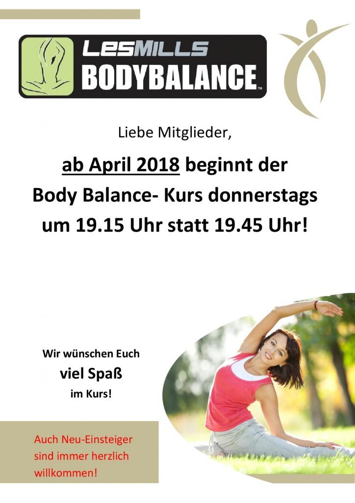 1. Standartaushang Body Balance neue Zeit
