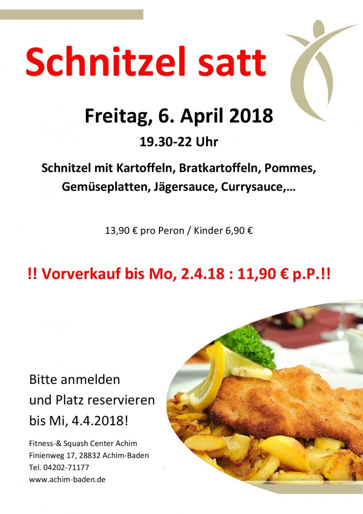 1. Standartaushang Schnitzel satt